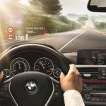 Проекция на лобовое стекло BMW