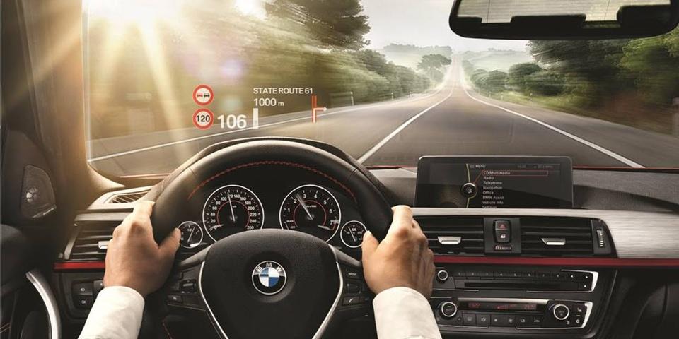 Проекция на лобовое стекло BMW, Head Up Display, HUD