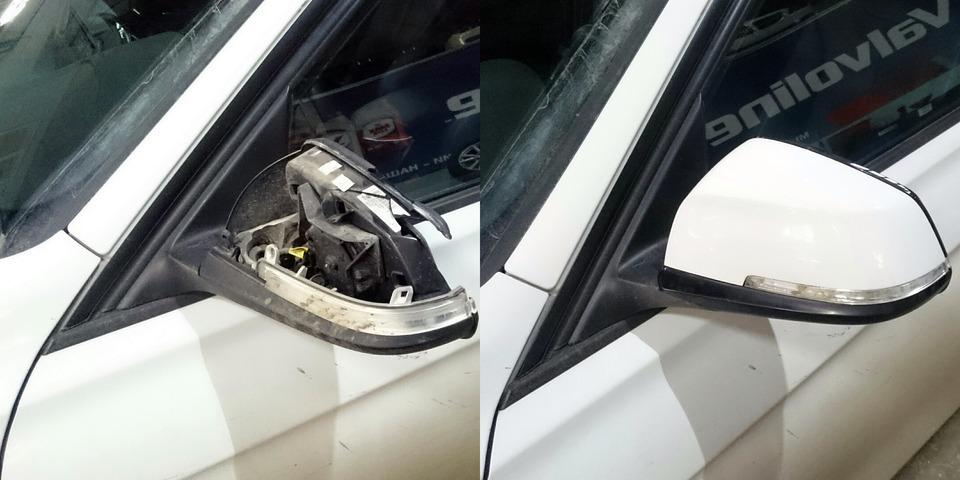 Ремонт зеркала BMW F30