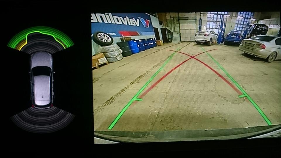 установка камеры заднего вида BMW