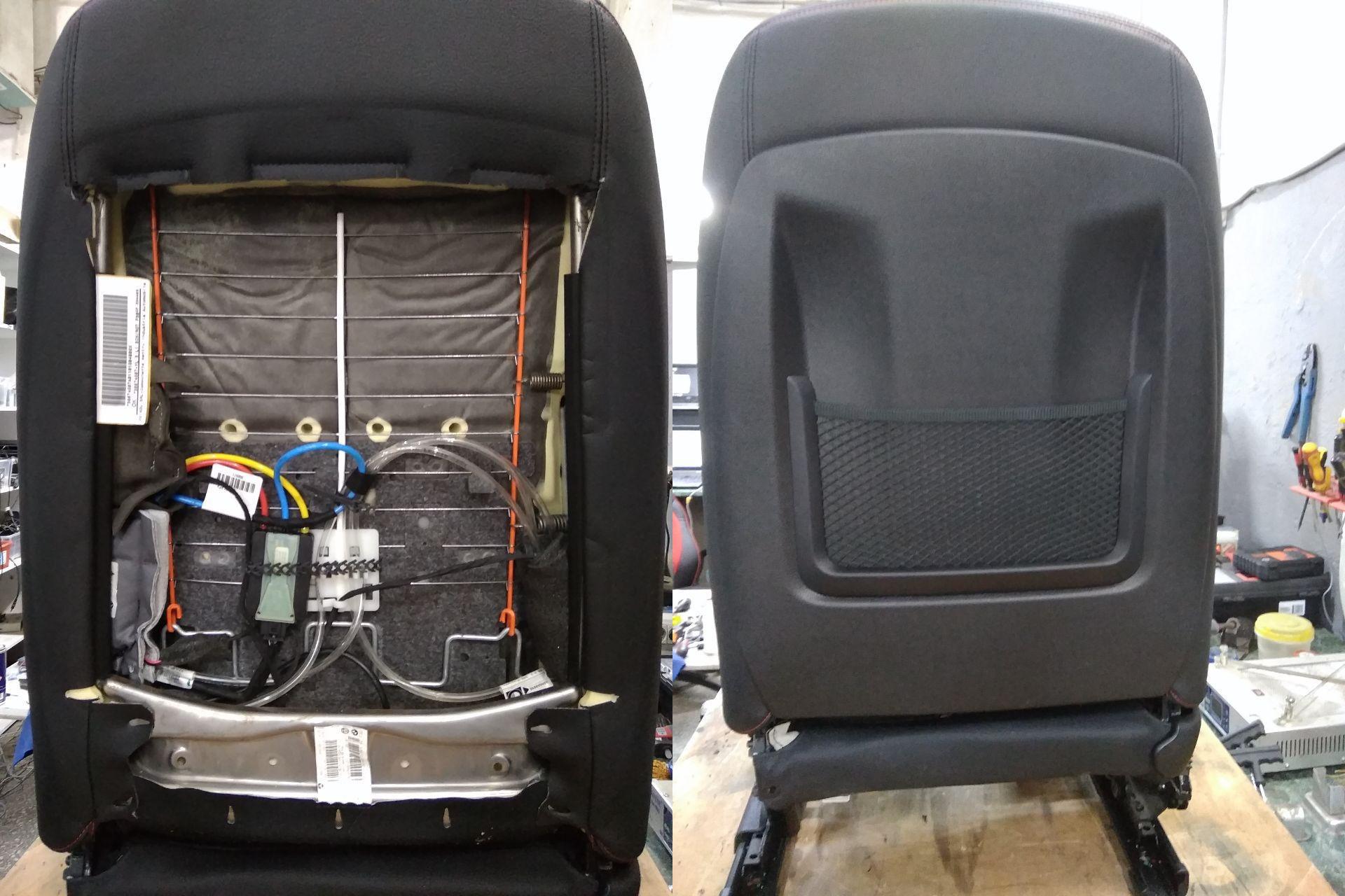 компрессор, трубки поясничной опоры, сиденье в сборе