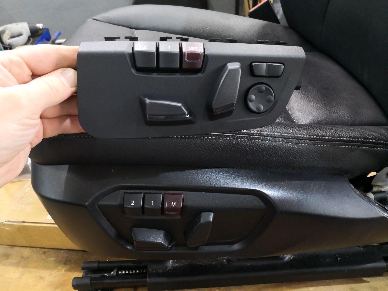 Блок управления с кнопкой поясничной опоры
