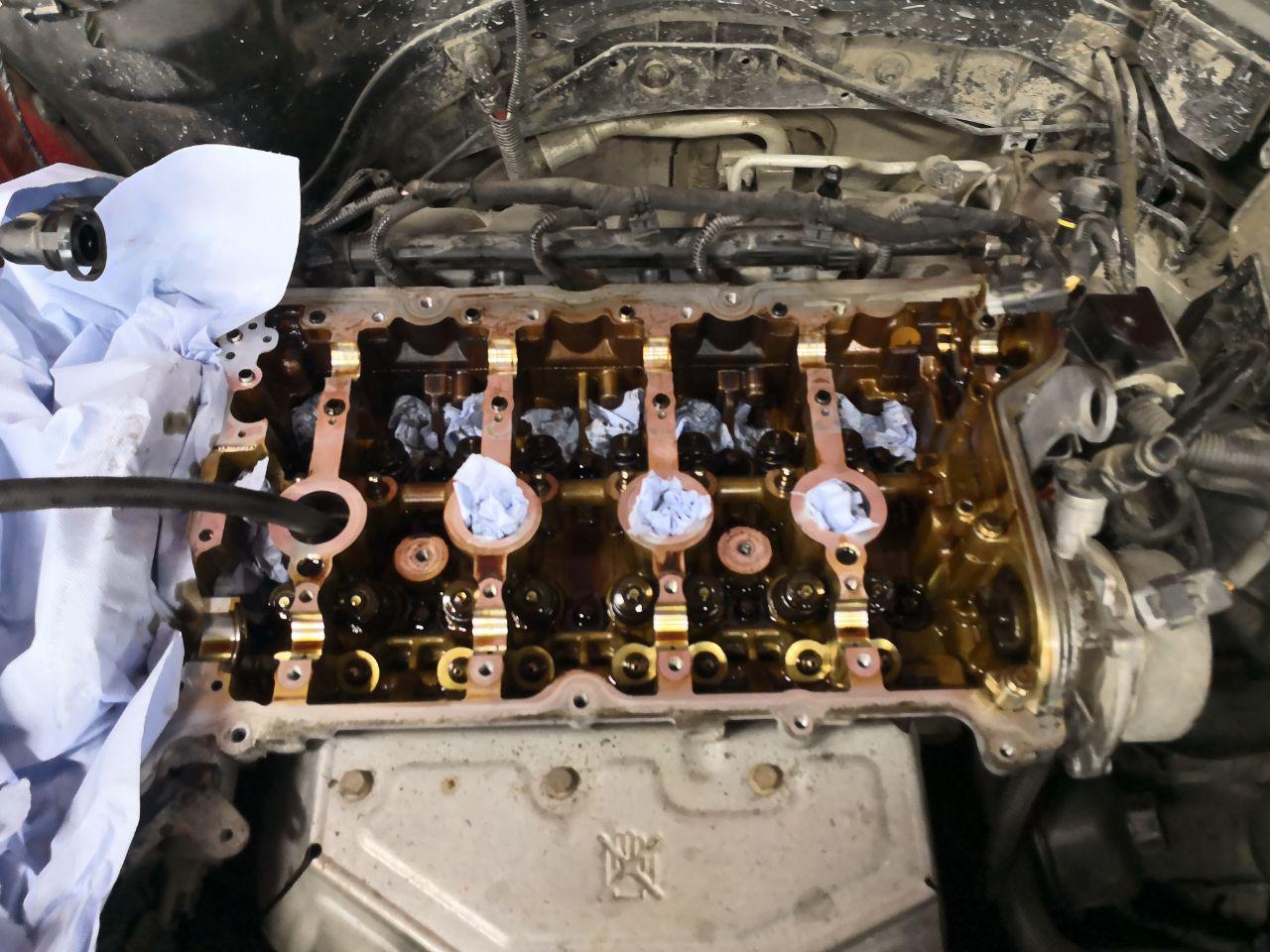Замена маслосъемных колпачков без снятия ГБЦ, замена цепи ГРМ, Mini Cooper