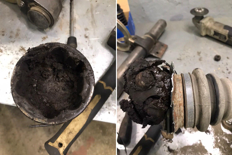 разрыв пыльника шруса, BMW X1 E84
