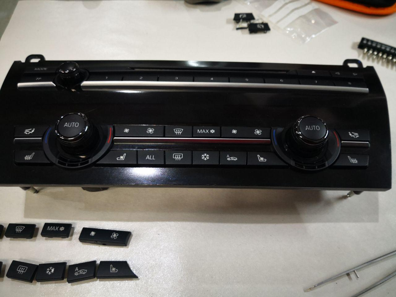 замена кнопок HCAV BMW F01