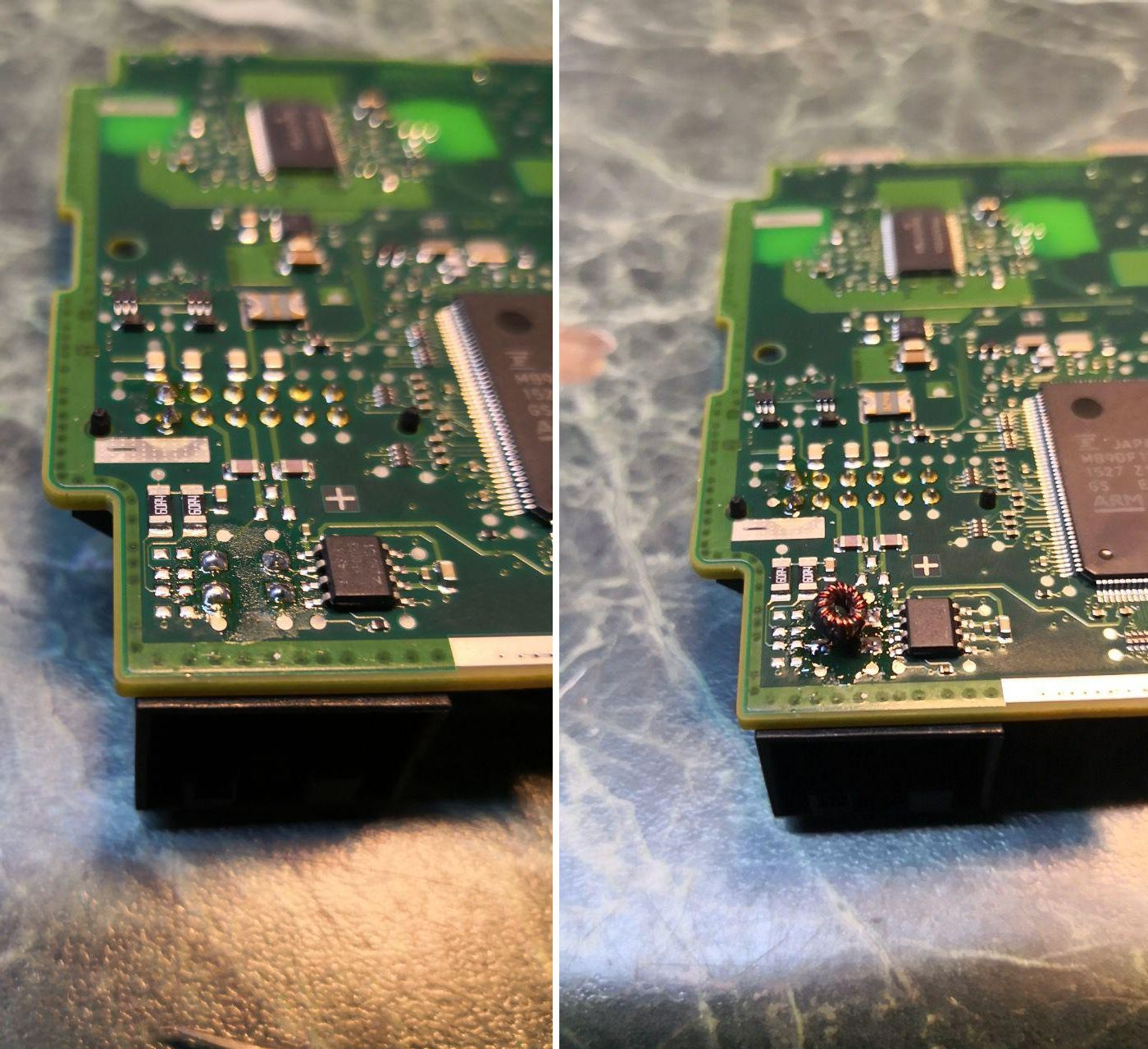 микро трансформатор на плате панели приборов G30