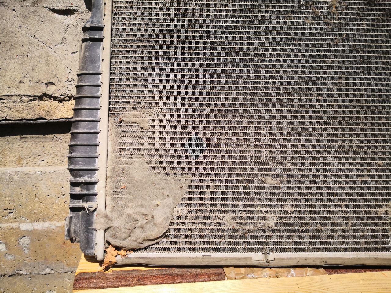 грязь на радиаторе