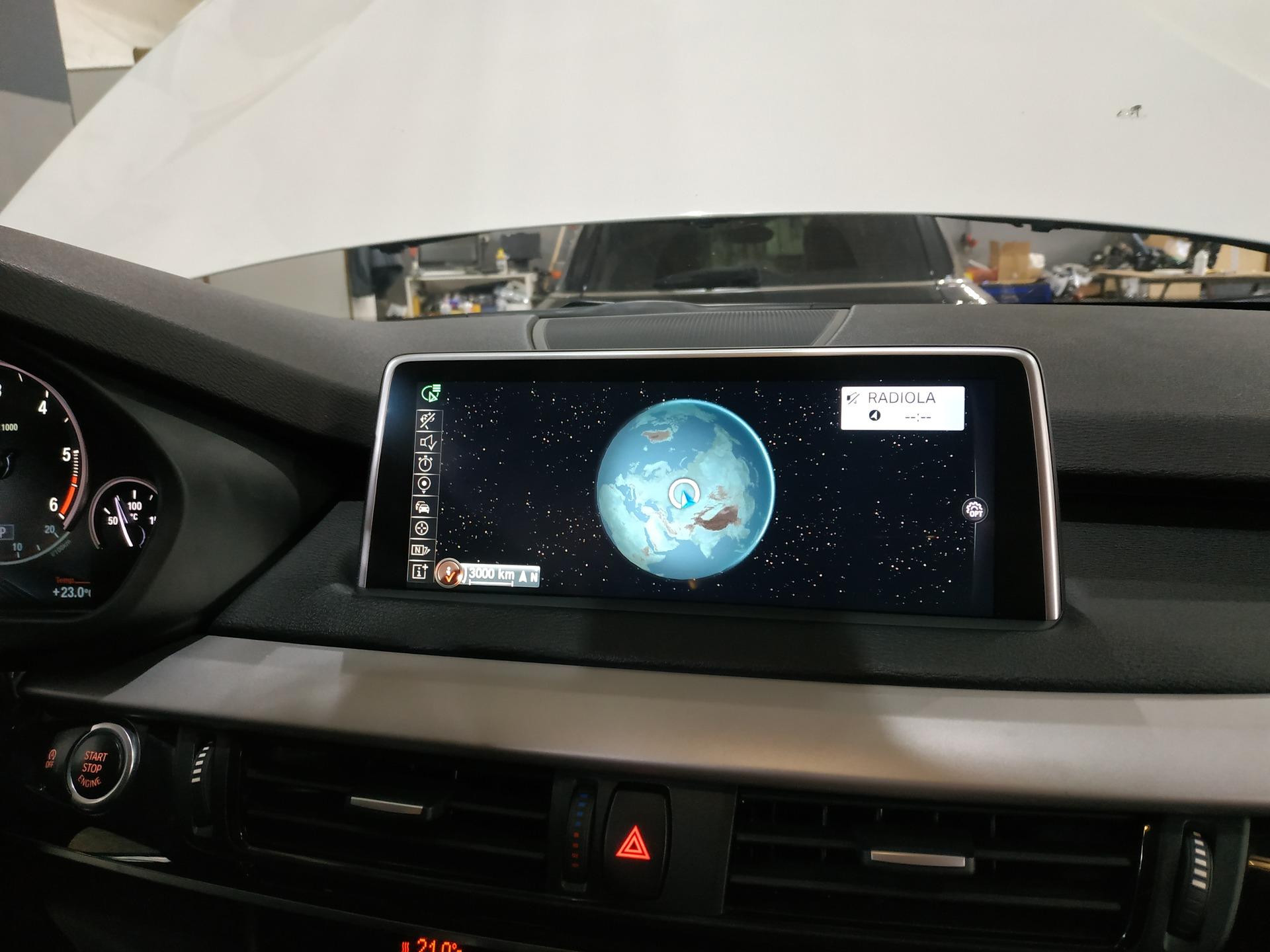 обновление карты мира на BMW X5 F15