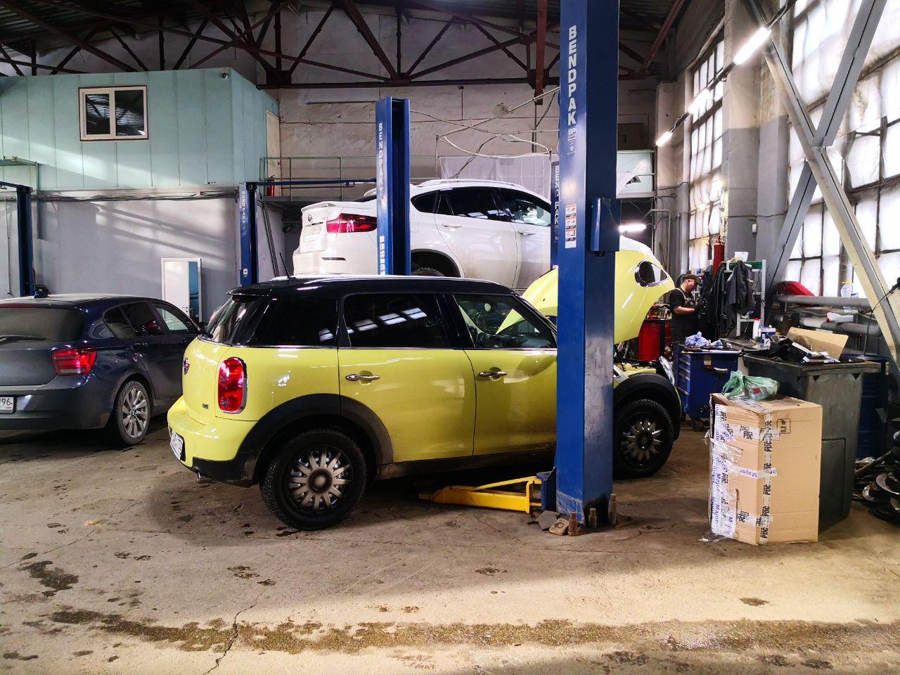 MINI в автосервисе BMWupgrade