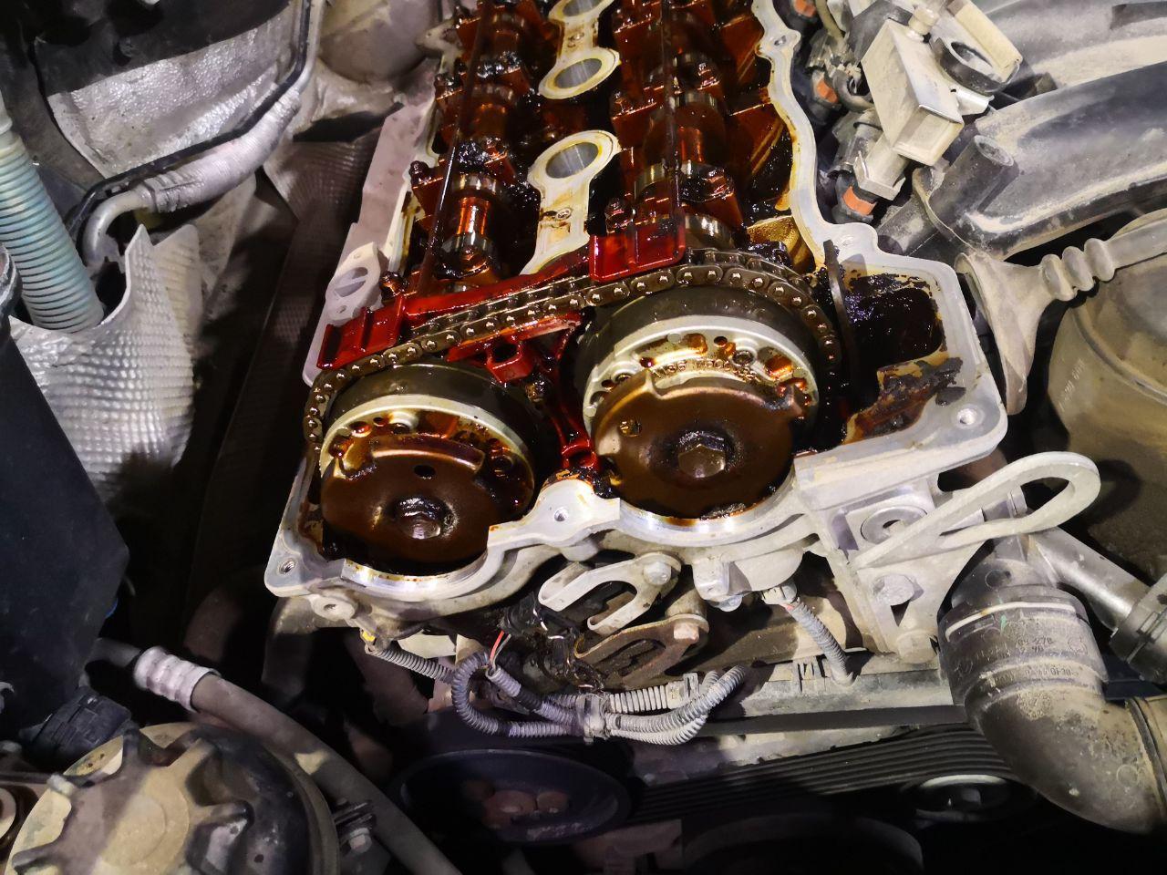 смола в двигателе