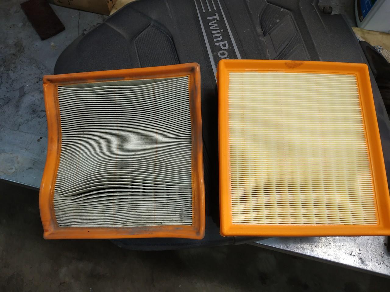 новый и старый воздушные фильтры