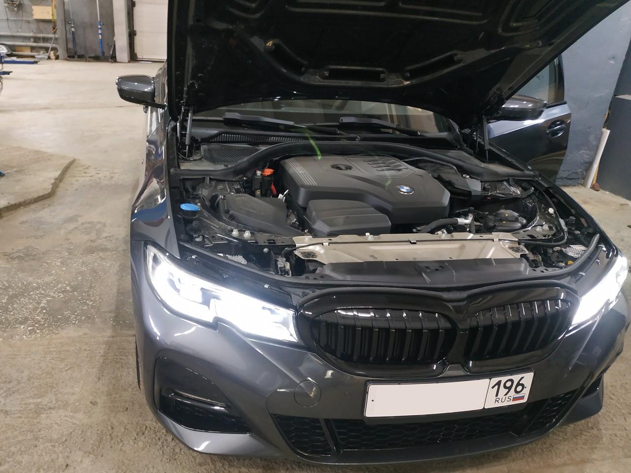 Чип тюнинг BMW G20 320i 2019 года, в стоке 184 л.с.
