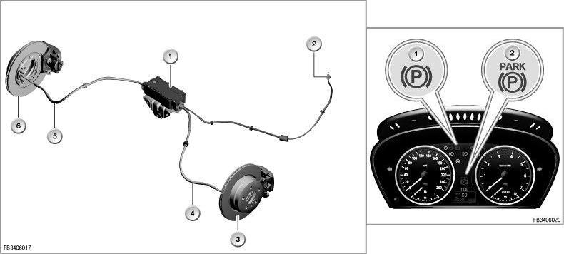 устройство парковочного тормоза BMW, EMF, ручник