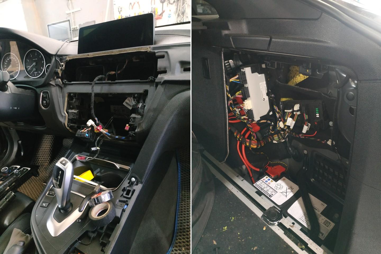 процесс дооснащения головным устройством NBT, BMW F34 GT