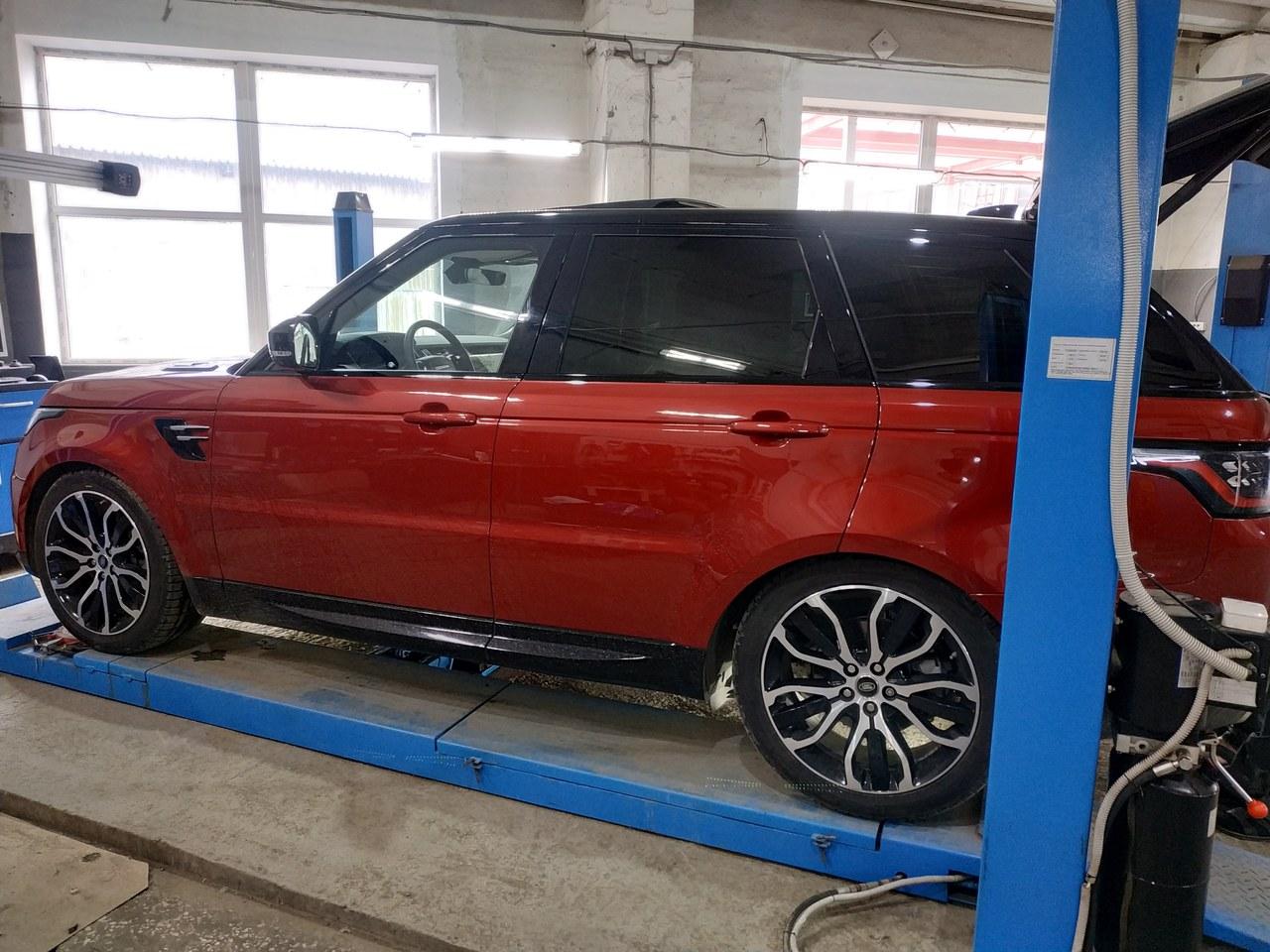 вид сбоку, Range Rover Sport 2