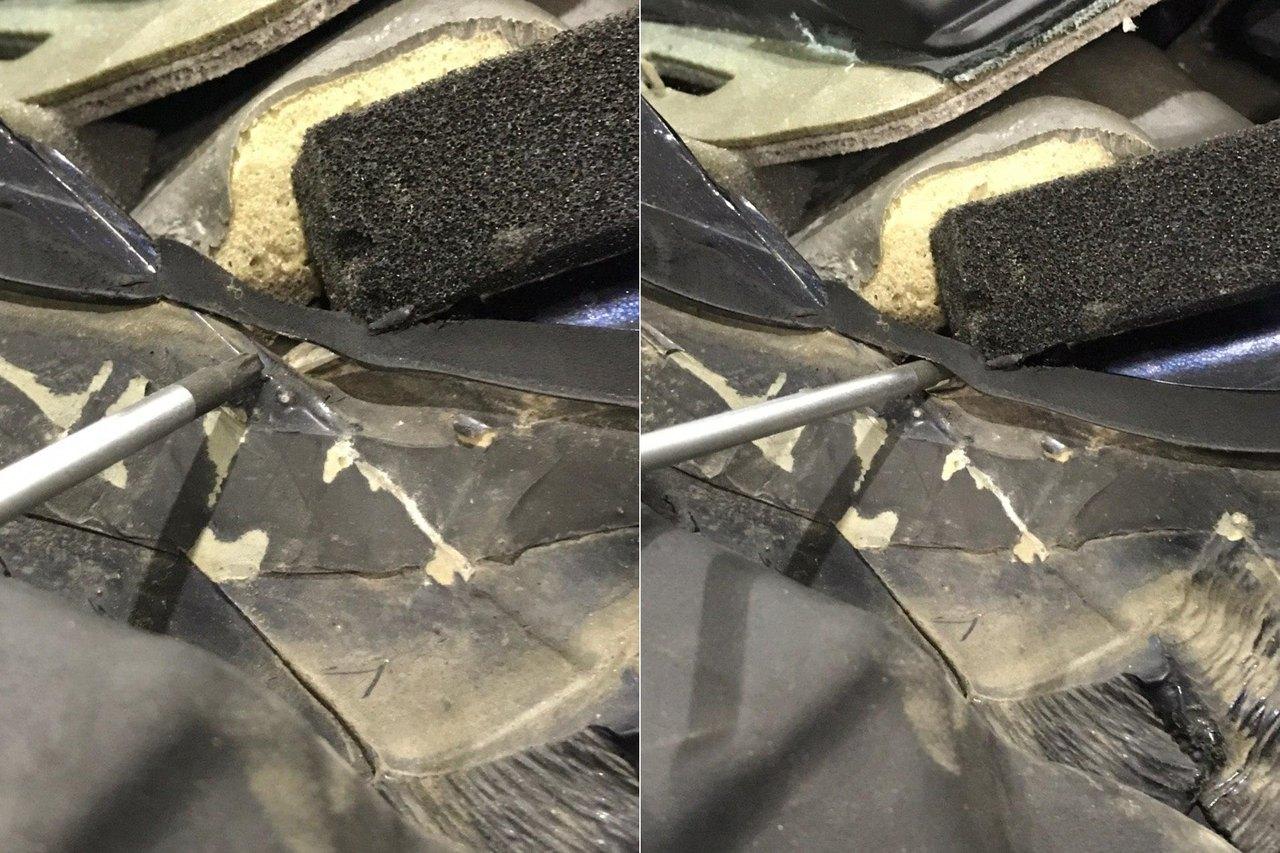 ненадлежащая замена лобового стекла привела к затоплению салона