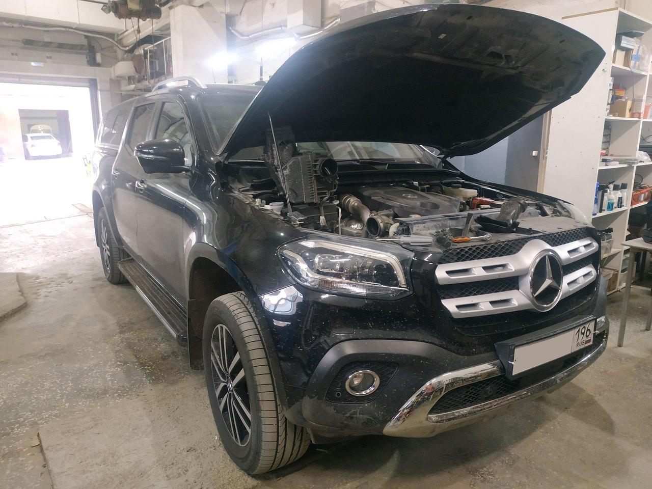 Mercedes Benz X 250d, чип тюнинг до 220 л.с.
