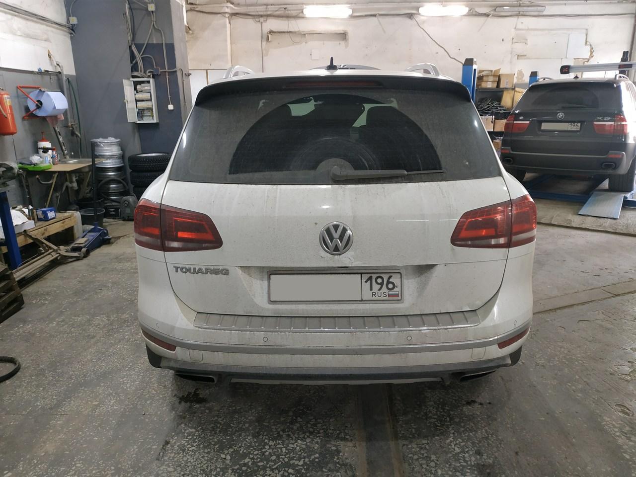вид сзади, VW Touareg II 3.6