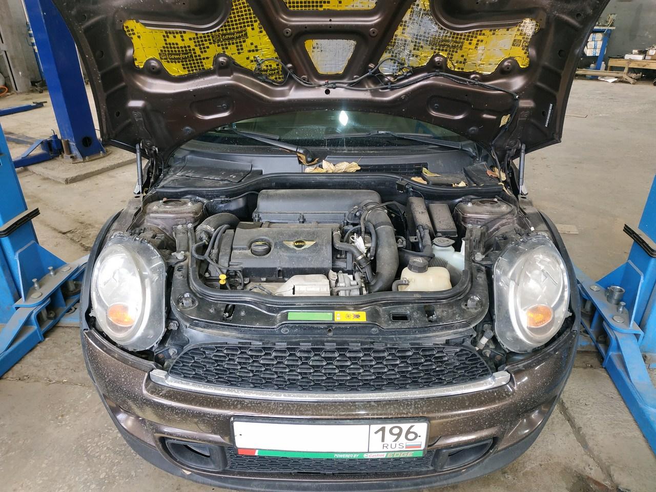 Mini Cooper S, замена клапана