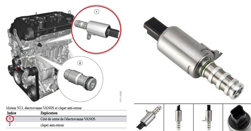 Клапан Vanos на MINI Cooper, замена клапана