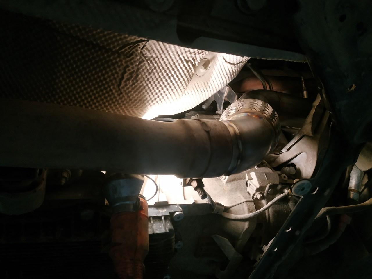 даунпайп на X5 F15