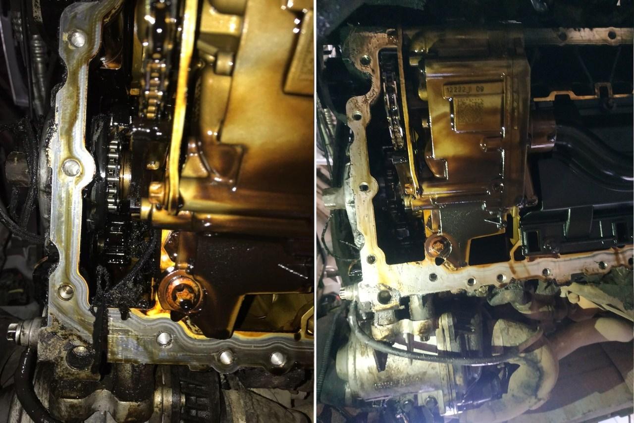 Остатки ремня генератора в моторе