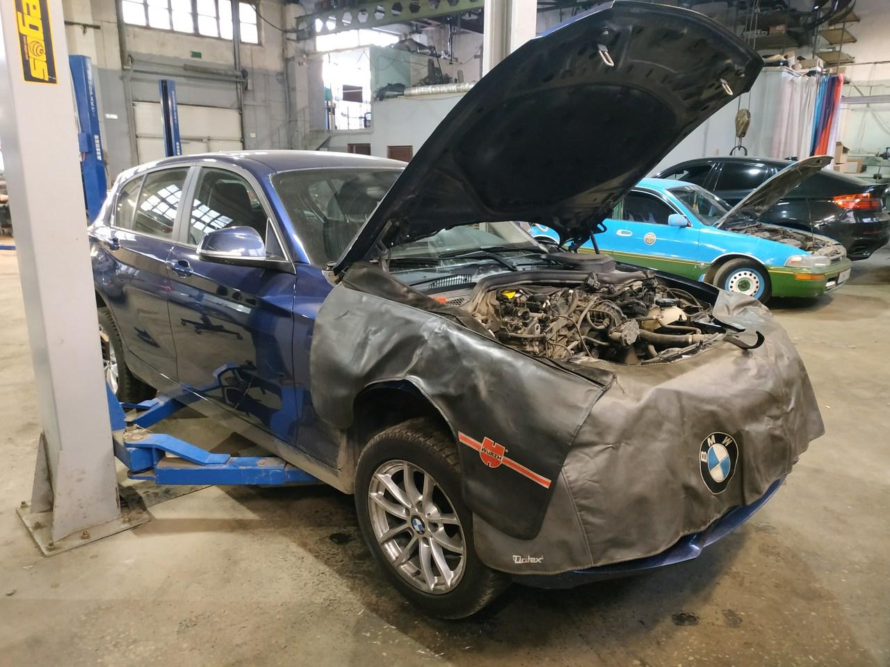 BMW F20 118i, замена турбины