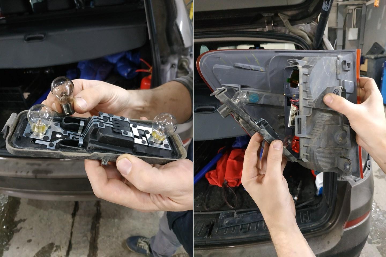 Замена ламп в заднем фонаре, BMW X3 F25