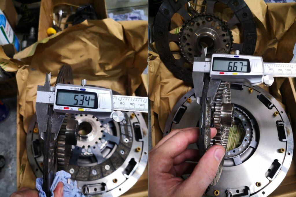 Старый диск с износом и новый диск без износа