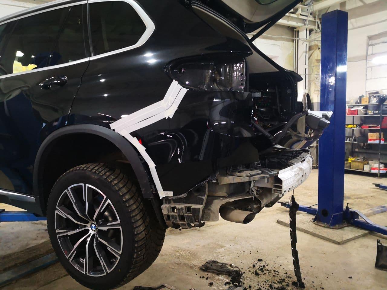 BMW G05, дооснащение оригинальным фаркопом