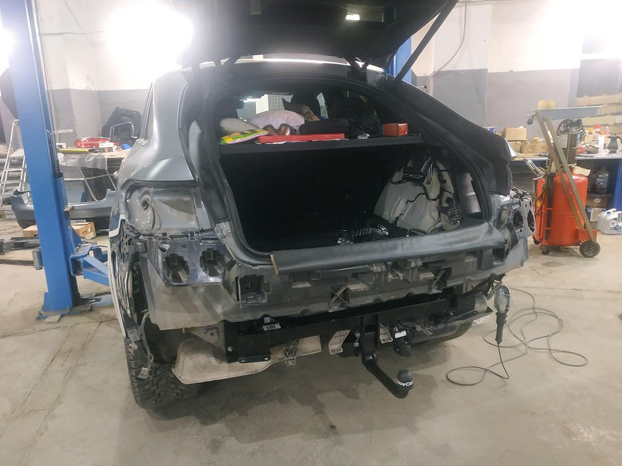 установка фаркопа, Mercedes Benz GLE