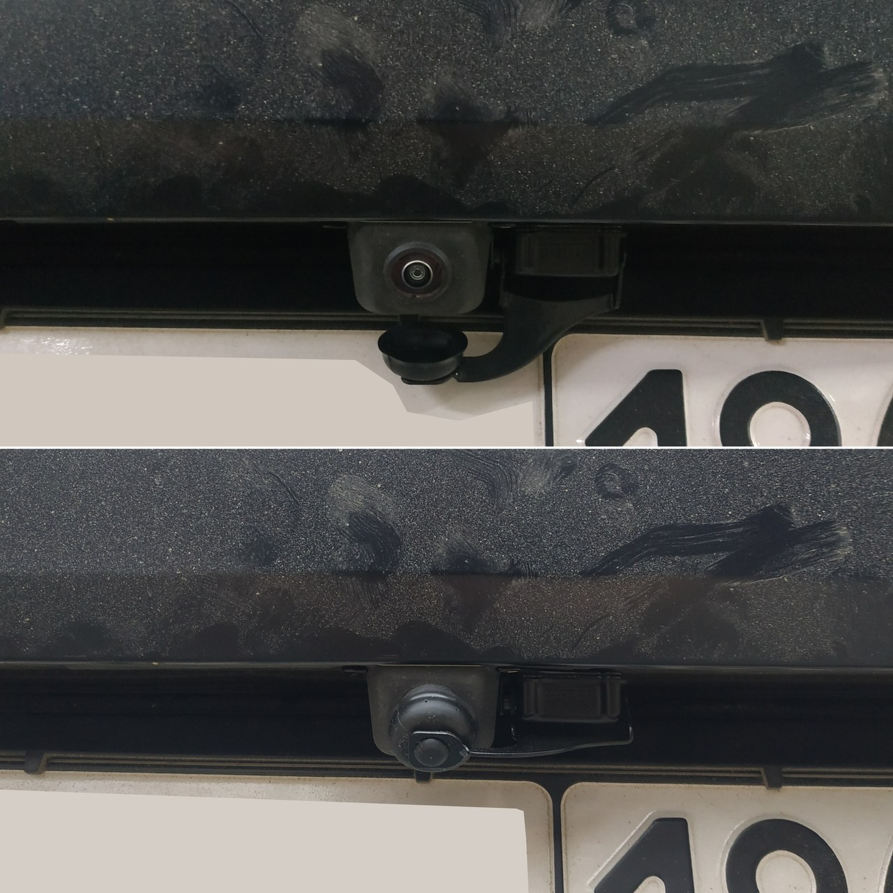 Защита камеры заднего вида в открытом и закрытом состоянии