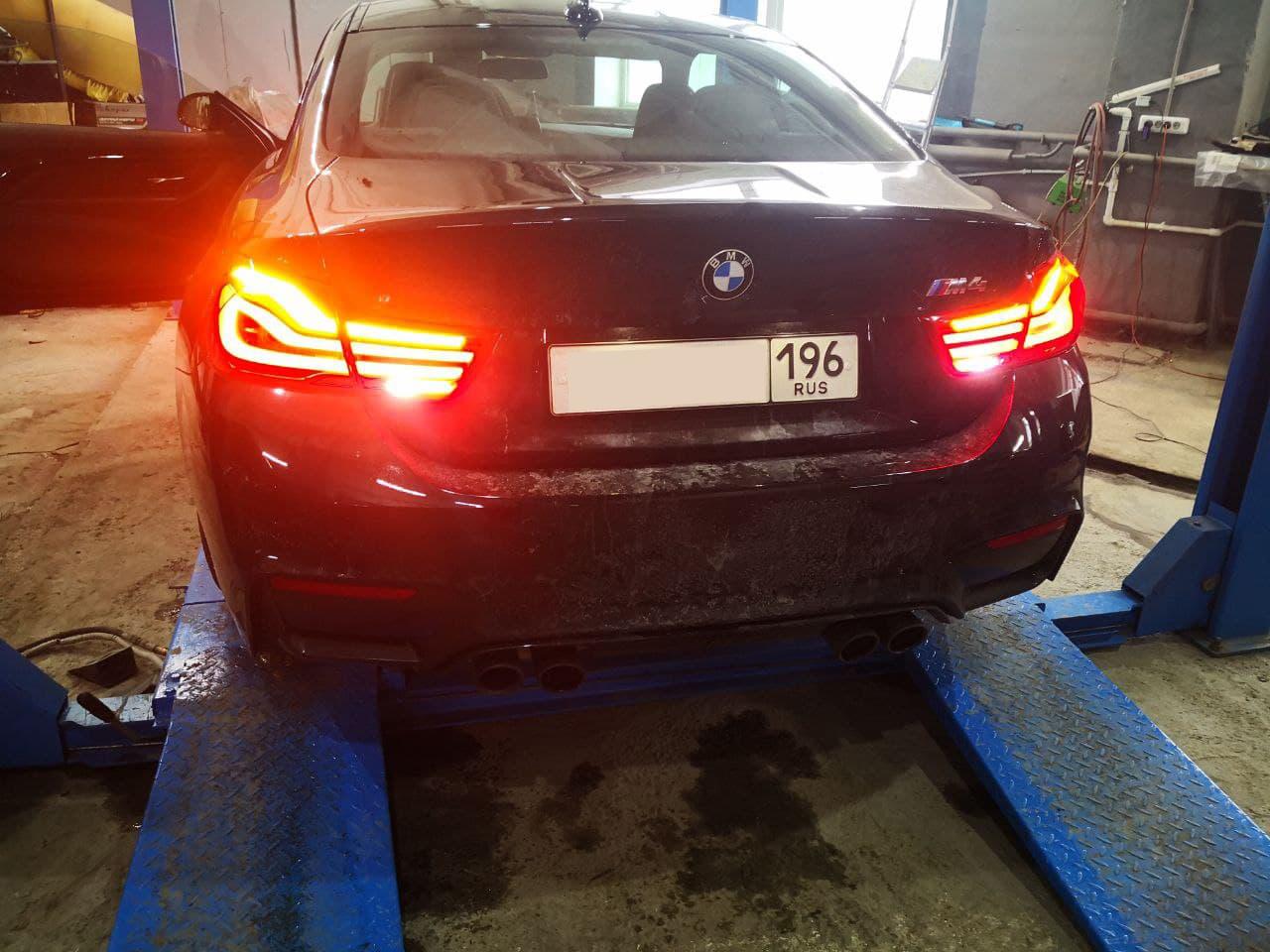 задние фонари рестайлинг, BMW F82 M4