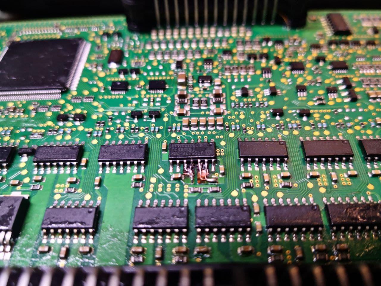 Заменили микросхему, ремонт FRM