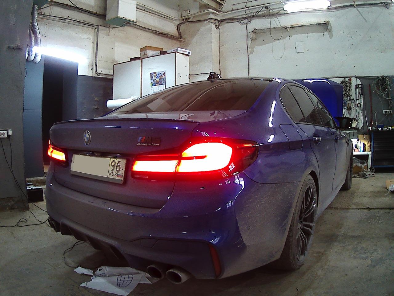 Рестайлинговые задние фонари, BMW M5