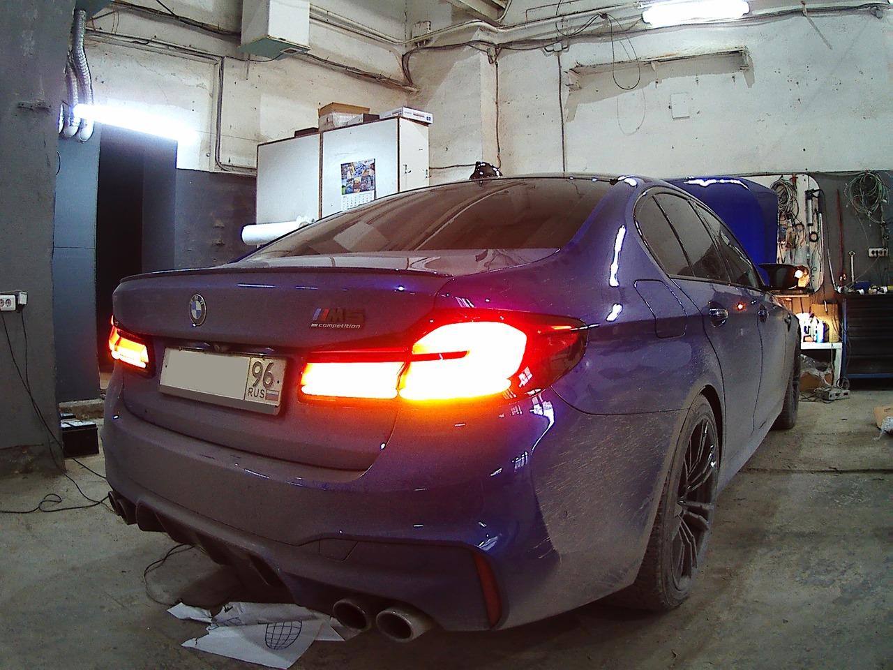 задние фонари рестайл, BMW M5