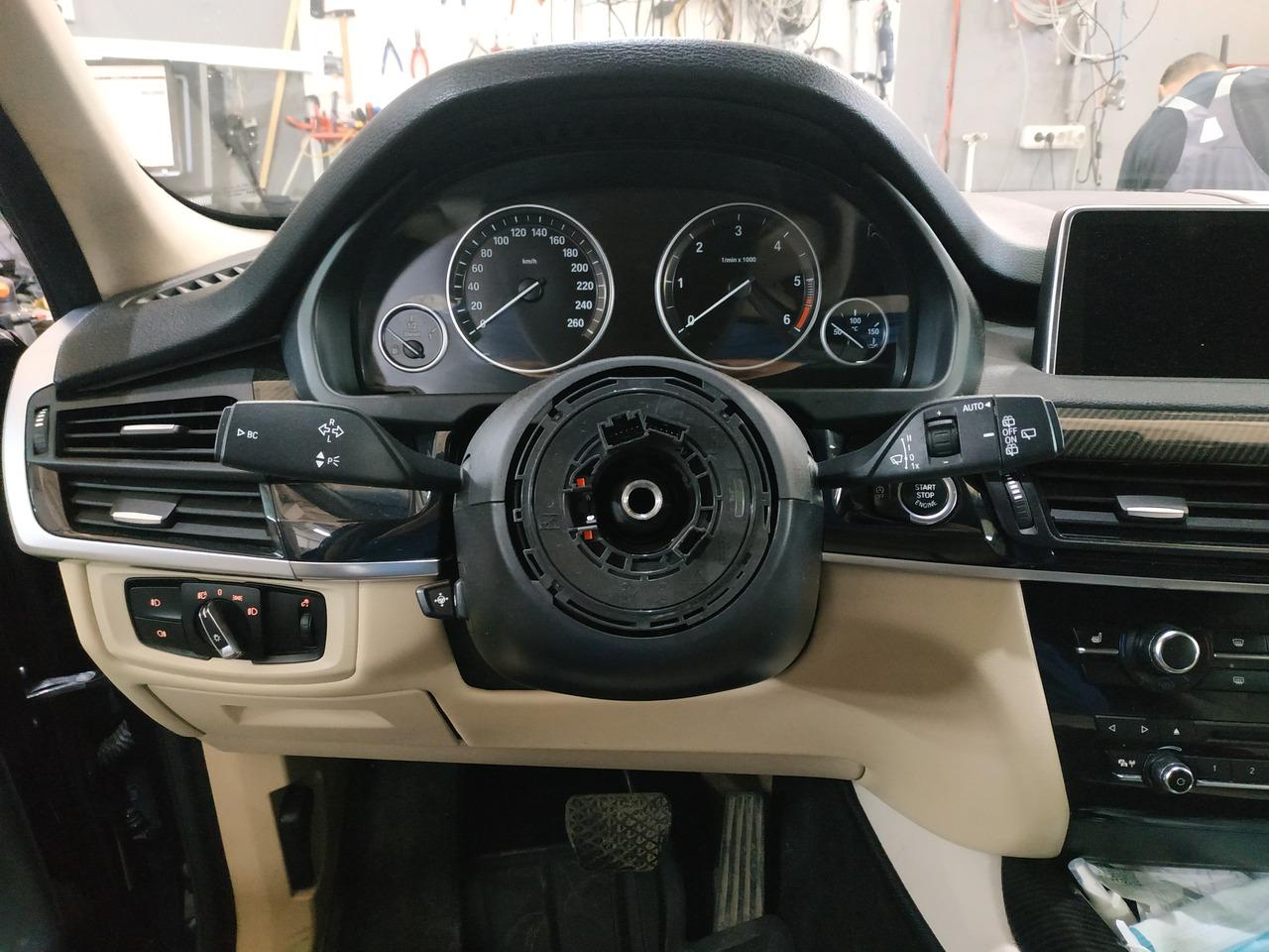 замена руля, BMW X5 F15