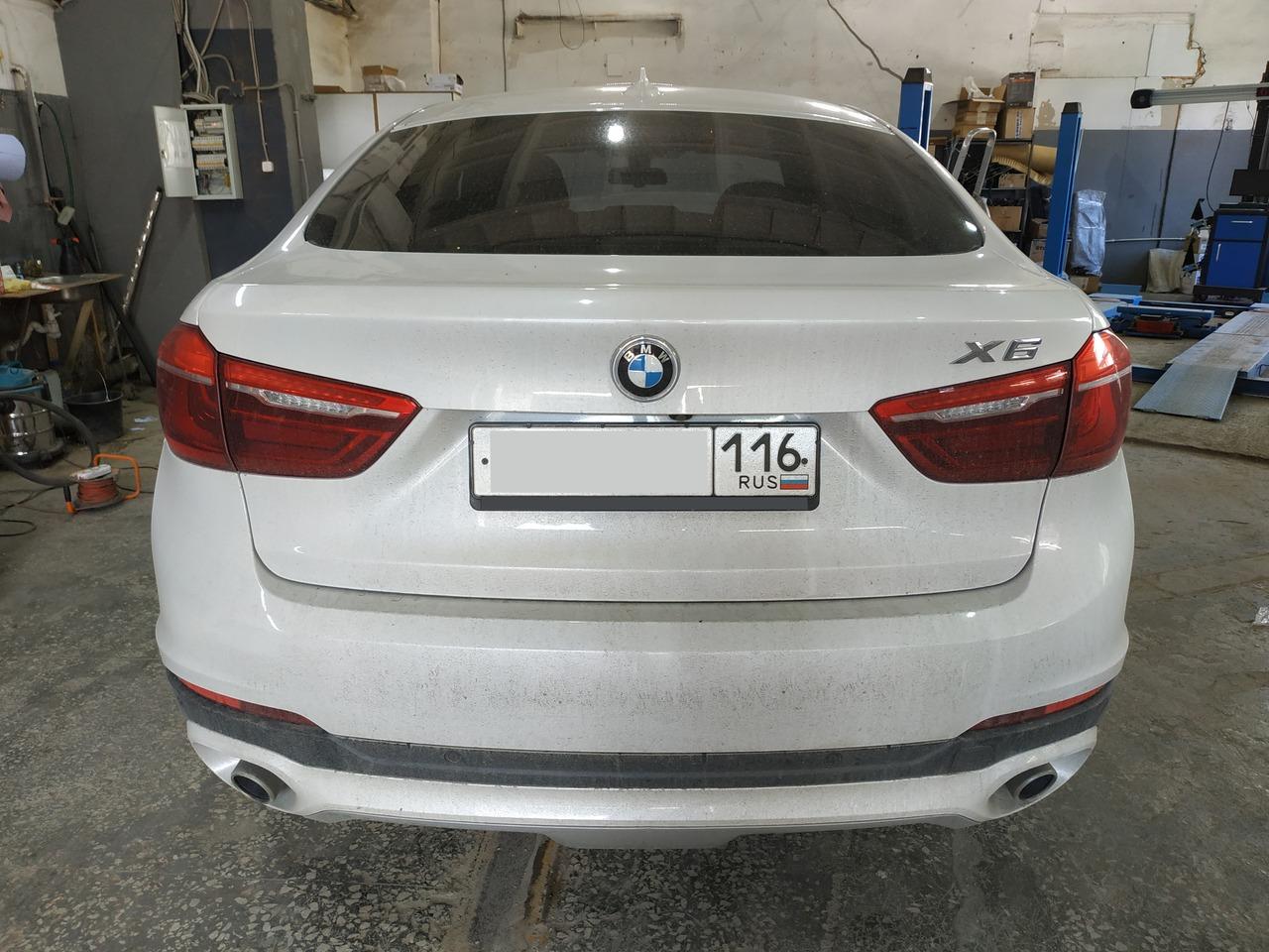 BMW Х6 F16 30d, вид сзади