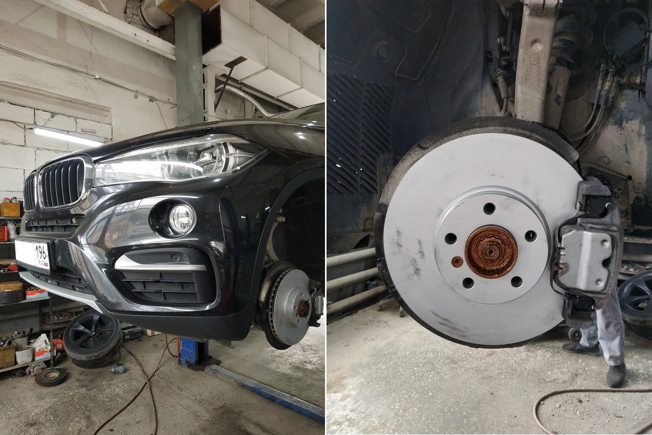 новые тормоза, передний тормозной диск с колодкой