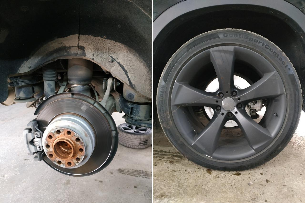 старый диск и новые тормоза, x6 f16