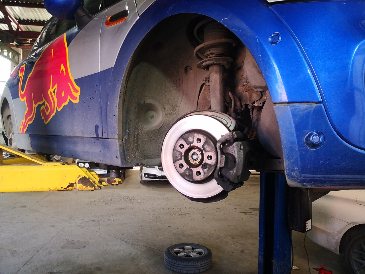 Изношенный тормозной диск, MINI Cooper F56