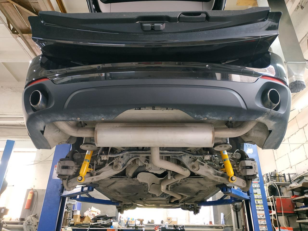 после замены пружин и амортизаторов, F15 X5, вид снизу
