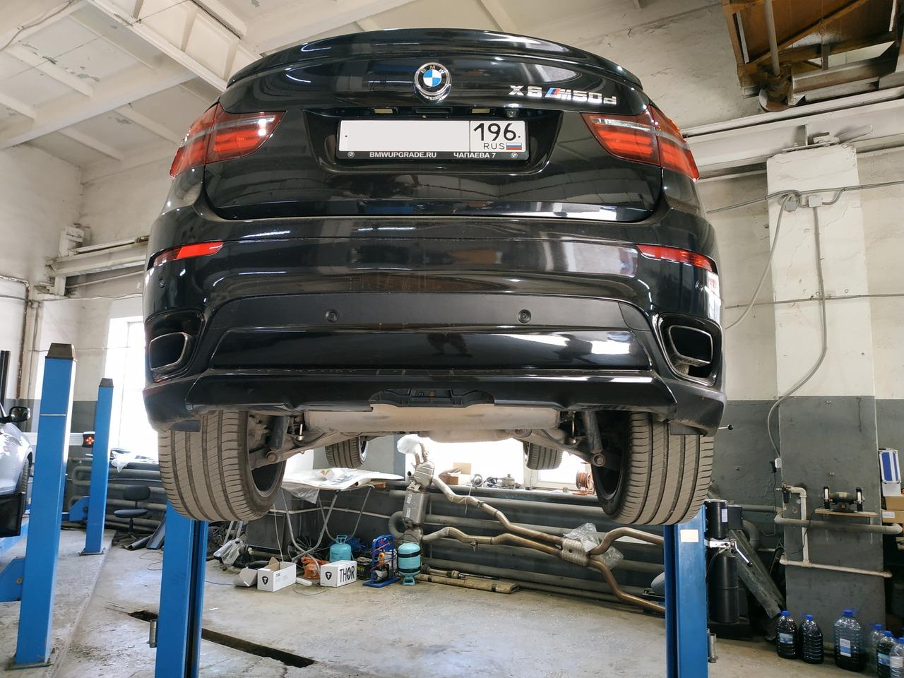 BMW X6M, вид сзади