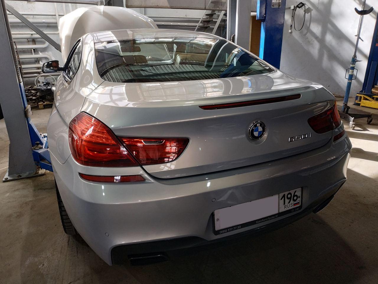 BMW F13 650i, вид сзади