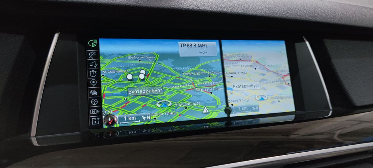 навигация в BMW F07, пробки в NBT